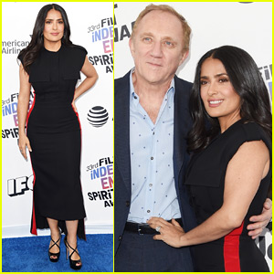 Salma Hayek Cozies Up to Husband Francois-Henri Pinault at Spirit Awards 2018