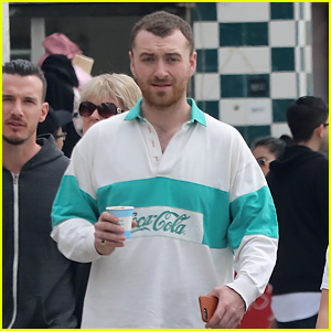 Sam Smith Enjoys a Nice Day Out With Friends!
