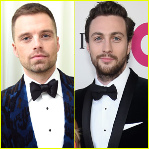 Sebastian Stan & Aaron Taylor-Johnson Look Dapper at Elton John's Oscars Party