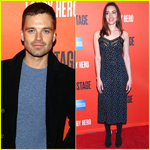 Sebastian Stan & Aubrey Plaza Support Chris Evans & Michael Cera at 'Lobby Hero' Opening Night!