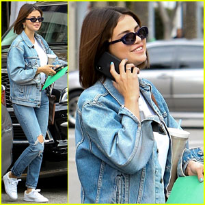 Selena Gomez Rocks Denim-on-Denim on Saint Patrick's Day