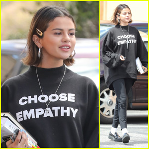 Selena Gomez Says 'Choose Empathy' With Her Outfit!