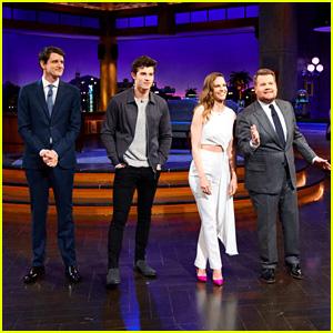 Shawn Mendes, Hilary Swank & Zach Woods Play 'Flinch' on 'James Corden' - Watch Now!