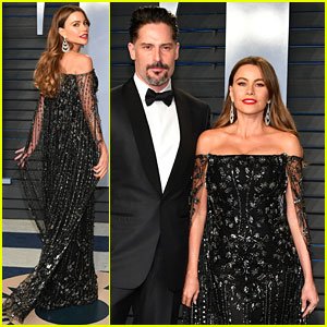 Sofia Vergara Does a Twirl at Vanity Fair's Oscars Party With Husband Joe Manganiello