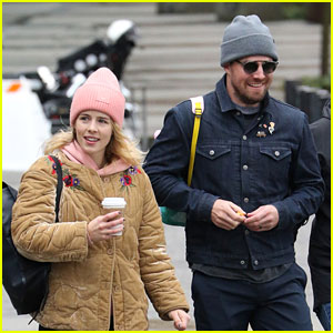 Stephen Amell Attends March For Our Lives with His Wife & His TV Wife!