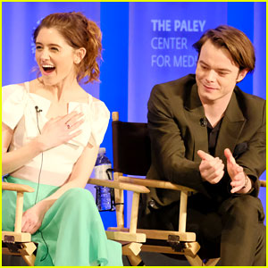 Cute Couple Natalia Dyer & Charlie Heaton Join 'Stranger Things' Cast at PaleyFest Panel