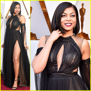 Taraji P. Henson Shows Some Skin on Oscars 2018 Red Carpet