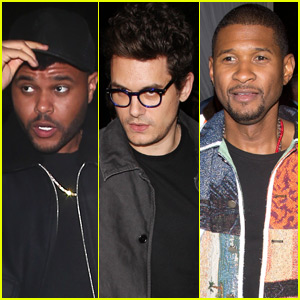 The Weeknd, John Mayer, & Usher Attend Pre-Oscars Bash in Beverly Hills