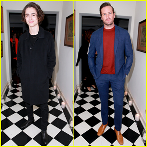 Timothee Chalamet & Armie Hammer Toast To 'Call Me By Your Name'!