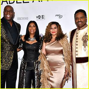 Tina Knowles Joins Husband Richard Lawson & Samuel L. Jackson at Wearable Art Gala