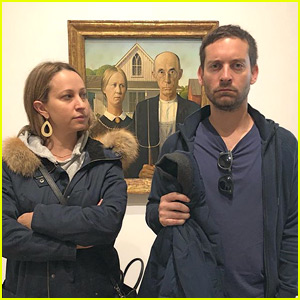 Tobey Maguire & Ex Wife Jennifer Meyer Recreate 'American Gothic' Painting!