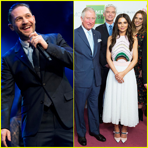 Tom Hardy & Cheryl Cole Meet Prince Charles at The Prince's Trust Awards 2018!