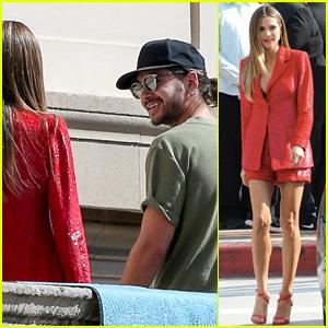 Tom Kaulitz Visits Heidi Klum on 'America's Got Talent' Set