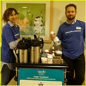 Troian Bellisario & Patrick J. Adams Brighten the Day for Kids at Children's Hospital