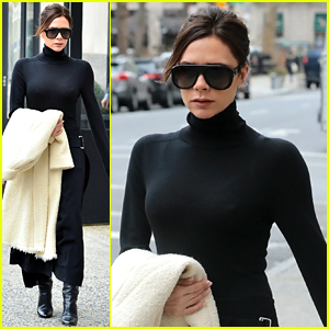 Victoria Beckham Makes the Sidewalk Her Runway in New York