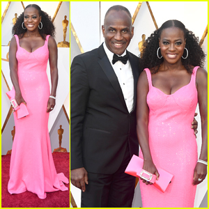Viola Davis Wears Showstopper Pink Dress To Oscars 2018