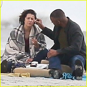 Will Smith & Mary Elizabeth Winstead Get Close on the Set of 'Gemini Man'