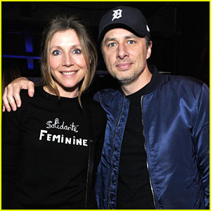 Zach Braff & Sarah Chalke Have Mini 'Scrubs' Reunion at Spotify Louder Together Event