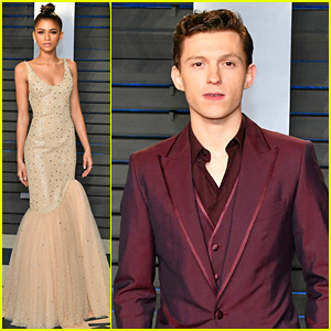 Zendaya & Tom Holland Switch Things Up at Oscars After Party!
