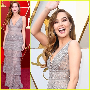 Zoey Deutch Wears an Eco-Friendly Dress at Oscars 2018