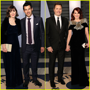 Zooey Deschanel & Megan Mullally Bring Their Hubbys To Vanity Fair's Oscars 2018 Party!