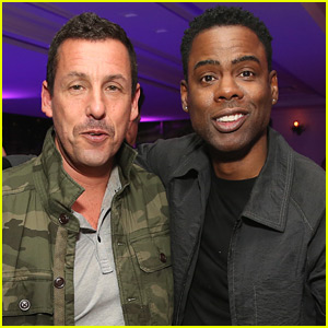Adam Sandler & Chris Rock Buddy Up at 'The Week Of' Premiere!