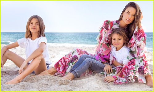 Alessandra Ambrosio Poses with Her 2 Adorable Kids for 'Harper's Bazaar'