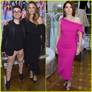 Alicia Silverstone Hosts Christian Siriano's New Store Opening in NYC!