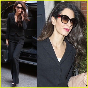 Amal Clooney Heads to Her Office in New York City