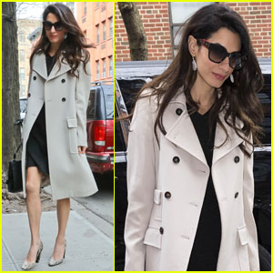 Amal Clooney Shows Her Elegant Style on the Way to Work!