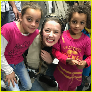 Amber Heard Visits Syrian Refugees in Jordan with SAMS!