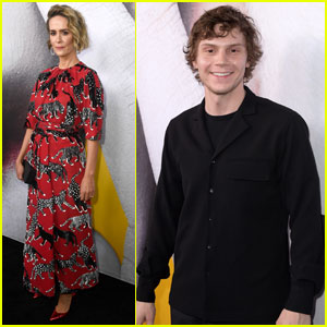 Sarah Paulson, Evan Peters & 'AHS: Cult' Cast Step Out at FYC Event