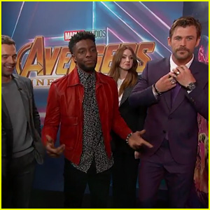 'Avengers: Infinity War' Cast Surprises Super Fans on 'Kimmel' - Watch Now!