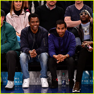 Aziz Ansari Makes Rare Appearance at New York Knicks Game After Being Accused of Sexual Harassment