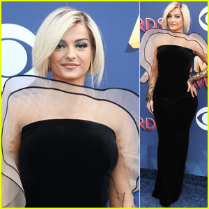 Bebe Rexha Looks Chic on the Red Carpet at ACM Awards 2018!