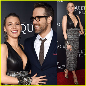 Blake Lively & Ryan Reynolds Are Supportive Friends at 'A Quiet Place' Premiere!