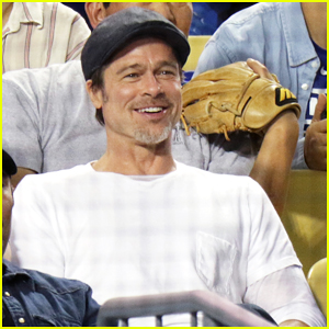 Brad Pitt Steps Out Solo for Dodgers Game Against Oakland Athletics!