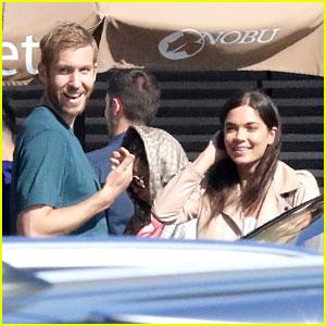 Calvin Harris & On-Again Girlfriend Aarika Wolf Couple Up for Nobu Sushi Date