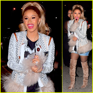 Cardi B Steps Out to Celebrate Her Album Release in NYC!