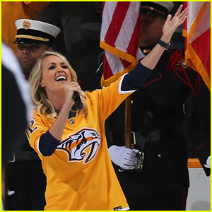 Carrie Underwood Sings National Anthem at Predators Playoffs - Watch Here!