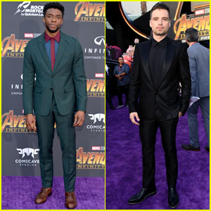 Chadwick Boseman & Sebastian Stan Hit the Carpet at 'Avengers: Infinity War' Premiere