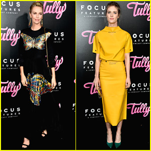 Charlize Theron & Mackenzie Davis Step Out for 'Tully' Premiere