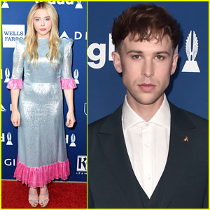 Chloe Moretz & Tommy Dorfman Step Out in Style for GLAAD Media Awards 2018