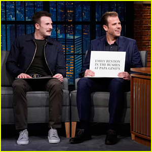 Chris Evans & Brother Scott Quiz Each Other on Hilarious 'Late Night' Game - Watch Here!
