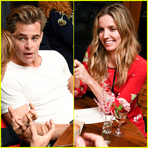 Chris Pine & Annabelle Wallis Couple Up at Malibu Dinner Party!