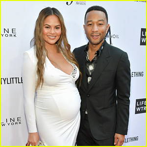 John Legend & Pregnant Chrissy Teigen Hit the Red Carpet at Daily Front Row Awards 2018!