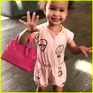 Chrissy Teigen & John Legend's Daughter Trying to Do a Peace Sign is the Cutest Video You'll Watch Today!