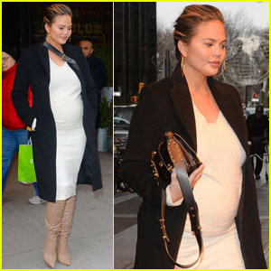 Chrissy Teigen Shows Off Her Baby Bump While Out in NYC!