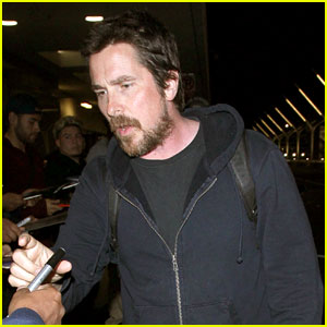 Christian Bale Shows Off Longer Hairdo at LAX Airport - See Pics!