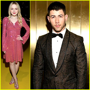 Dakota Fanning & Nick Jonas Attend Dolce Shows in NYC!